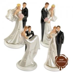 Свадебная пара малая в четырёх вариантах, 4 шт.