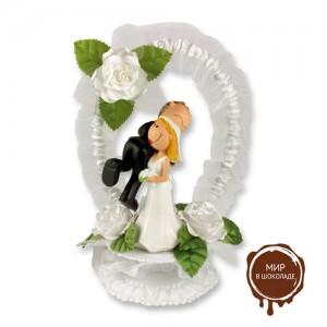 Веселая свадебная пара на торт, 1 шт.