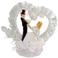 Свадебная пара с красивым венком в форме сердца, 1 шт.