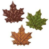 Шоколадный декор кленовые листочки