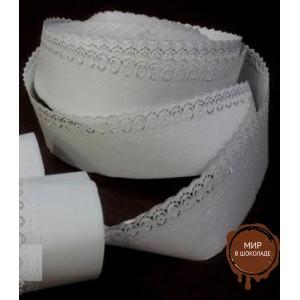 Бумажная кружевная лента, белая, 150 м.