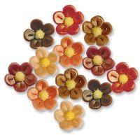 Фигурки марципановые цветочки, маленькие разноцветные