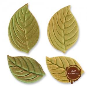 Фигурки марципановые листья, большие и маленькие