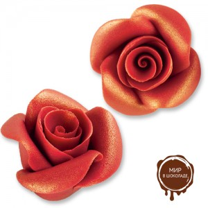Фигурки марципановые античные розы, большие красные