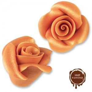 Фигурки марципановые античные розы, большие коралловые