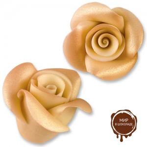 Фигурки марципановые античные розы, большие белые