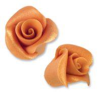Фигурки марципановые античные розы, маленькие коралловые