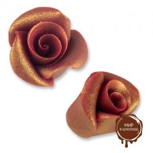 Фигурки марципановые античные розы, маленькие бордовые