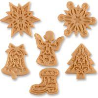 Фигурки марципановые новогодние, золотистые, в ассортименте