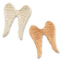 Фигурки марципановые крылья ангелов, белые и золотистые