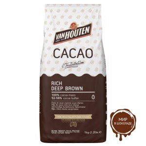 Какао-порошок RICH DEEP BROWN 52-56% жирность, Van Houten, 1 кг.