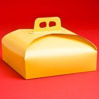 Коробка для торта 33х33 бежевая