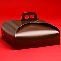 Коробка для торта 33х33 коричневая