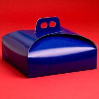 Коробка для торта 23х23 темно-синяя, 100 шт.