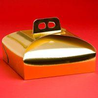 Коробка для торта 27х27 золотая, 100 шт.