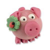 Фигурки марципановые розовые свинки, 72 шт.