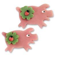 Фигурки марципановые розовые свинки, плоские