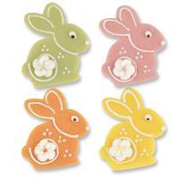 Фигурки марципановые кролики, разноцветные, 72 шт.