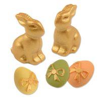 Фигурки марципановые кролики и яйца, перламутровые