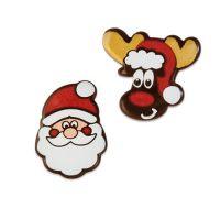 Шоколадный декор Новогодний, Дед Мороз и олень