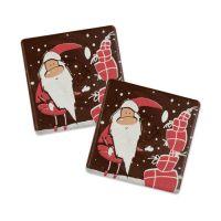 Шоколадный декор Новогодний, квадратики с Дедом Морозом и подарками