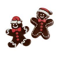 Шоколадный декор Новогодний, фигурки пряничные человечки