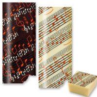 Трафаретный лист-пленка ноты