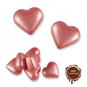 Сердца (розовые), белый шоколад