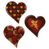 Шоколадный декор сердца