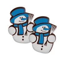 Шоколадный декор снеговики