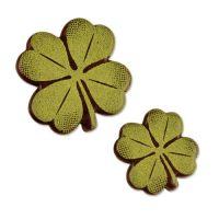 Шоколадный декор листочки клевера, зеленые