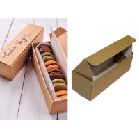 Картонная упаковка для макарун на 6 шт. из бур/бел крафт картона, 50 шт. Размер 185*60*60 мм.