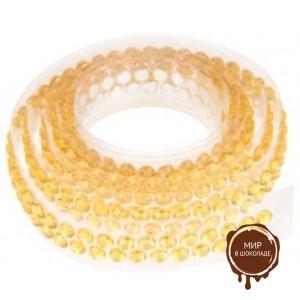 Декоративная лента с украшением в виде кристаллов, золотая, длина - 90 см.
