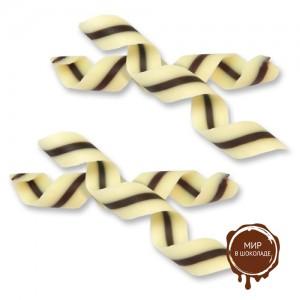 Спиральки из шоколада