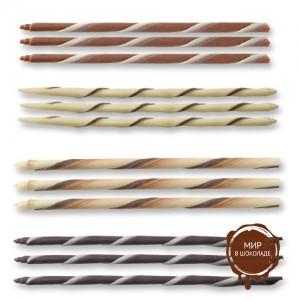 Закрученные трубочки из шоколада
