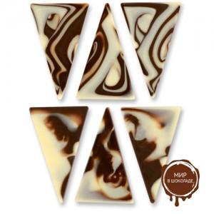 Треугольники белый/темный шоколад