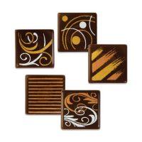 Шоколадный декор квадратики с рисунками