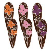 Шоколадный декор с цветочками