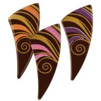 Шоколадный декор рожок с цветным рисунком