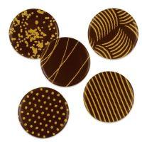 Шоколадный декор кружочки с рисунком