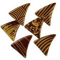 Шоколадный декор треугольники, темн. шоколад