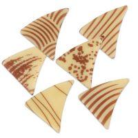 Шоколадный декор треугольники, белый шоколад