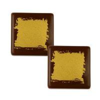 Шоколадный декор квадратики, большие