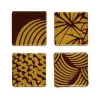 Шоколадный декор квадратики с рисунком