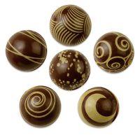Шоколадные шарики с рисунком