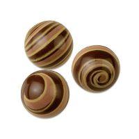 Шоколадные шарики из темного шоколада с рисунком 26 мм, 30 шт.