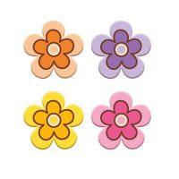 Шоколадный декор разноцветные цветочки