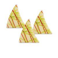 Шоколадный декор треугольники
