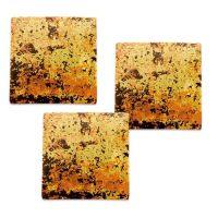 Шоколадный декор квадрат (золотой), большие