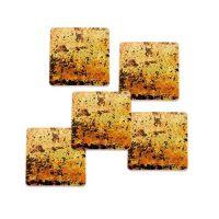 Шоколадный декор квадрат (золотой), маленькие